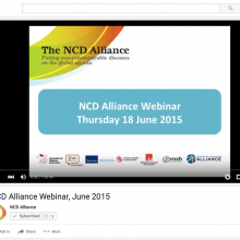 NCD Alliance Webinar, 18 June 2015 (VIDEO)