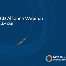 NCD Alliance Webinar, 11 May 2016