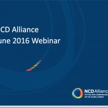 NCD Alliance Webinar, 15 June 2016