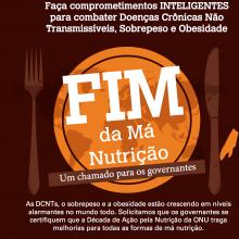 INFOGRÁFICO: Compromissos inteligentes (SMART) e corajosos para combater DCNTs, sobrepeso e obesidade (versão em português)