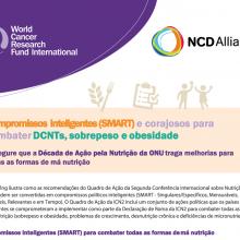Compromissos inteligentes (SMART) e corajosos para combater DCNTs, sobrepeso e obesidade (versão em português)