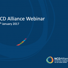 NCD Alliance Webinar, 11 January 2017
