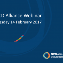 NCD Alliance Webinar, 14 February 2017