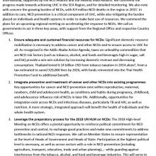 WHO SEARO RCM 2017 Statement - SDGs and progress towards UHC