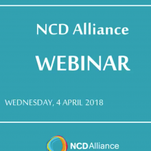 NCD Alliance Webinar, 4 April 2018