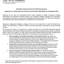 NCD Alliance statement
