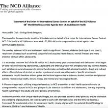 Statement on Adolescent Health