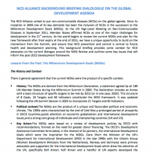 NCD Alliance background briefing dialogue on the global development agenda