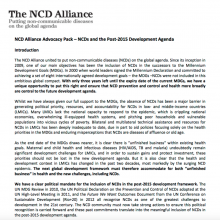 Advocacy Pack: NCDs and the Post-2015 Development Agenda