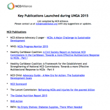 Key publications launched during UNGA 2015