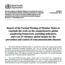 WHO Report: GCM/NCDs