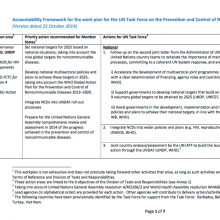 Accountability Framework : UN Task Force on the Prevention and Control of NCDs