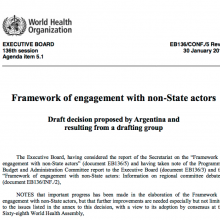 Framework of engagement with non-state actors