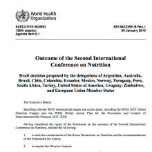 Outcome of the Second International Conference on Nutrition