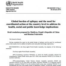 Draft resolution: Agenda item 6.6 on global burden of epilepsy