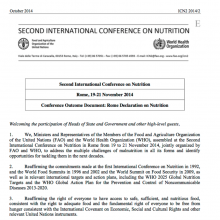 ICN2: Rome Declaration on Nutrition