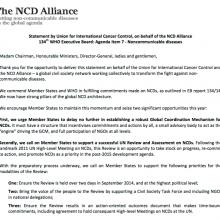 Statement on NCD Agenda Item