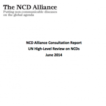 NCD Alliance Consultation Report UN High-Level Review on NCDs