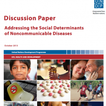 UNDP Discussion Paper: Addressing the Social Determinants of Noncommunicable Diseases