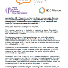 Statement at the 138th Executive Board: Prevention and Control of NCDs
