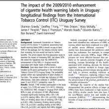 BMJ research paper: Health warning labels in Uruguay