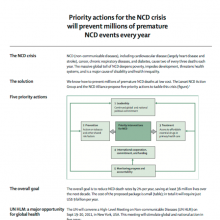 Priority actions for the NCD crisis will prevent millions of premature NCD events every year