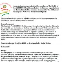 Health in Post-2015 NGO Coalition