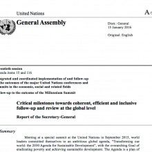 Critical milestones towards coherent, efficient and inclusive follow-up and review at the global level Report of the Secretary-General