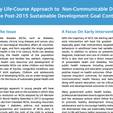 NCD Alliance Policy Brief - Early Lifecourse Approach to NCDs in the Post-2015 Sustainable Development Goal Context