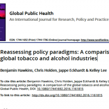 Reassessing policy paradigms: A comparison of the global tobacco and alcohol industries