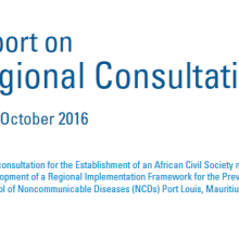WHO African Region - Consultation Report