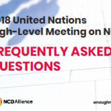 FAQ: 2018 United Nations High-Level Meeting on NCDs