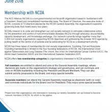 The NCD Alliance's Membership Principles