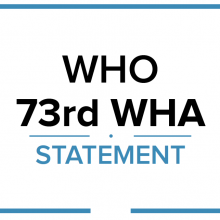 WHA73 Statement - WHO Civil Society Working Group on NCDs