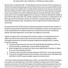 NCDA statement to the launch of Phase II of the WHO Civil Society Working Group on NCDs