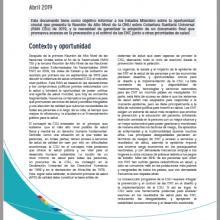 Cobertura Sanitaria Universal: Prioridades de Incidencia 2019