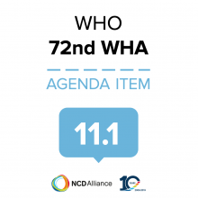 72nd WHO WHA Statement on Item 11.1 Proposed programme budget 2020–2021
