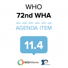 72nd WHO WHA Statement on 11.4 Implementation of the 2030 Agenda for Sustainable Development.