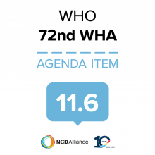 72nd WHO WHA Statement on Item 11.6 Health, environment and climate change