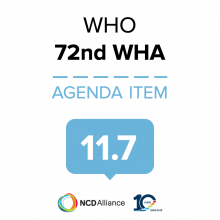 72nd WHO WHA Statement on Item 11.7 Access to medicines and vaccines