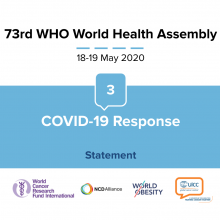 73rd WHO World Health Assembly Statement on Item 3 COVID-19 Response: Reducing risk of COVID-19, Cancer & other NCDs