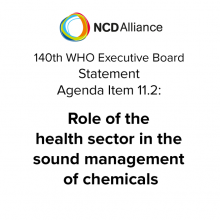 140th WHO EB: Agenda Item 11.2: Role of the health sector in the sound management of chemicals - Statement