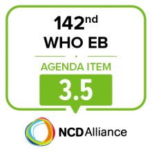 142nd WHO EB Statement on Item 3.5 Health environment and climate change
