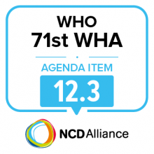 71st WHO WHA Statement on Item 12.3: Global Strategy for Women's, Children's and Adolescents' Health (2016-2030)
