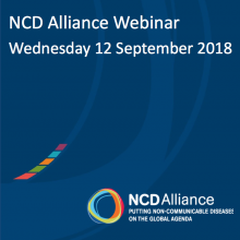 NCD Alliance Webinar, 12 September 2018