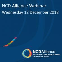 NCD Alliance Webinar, 12 December 2018
