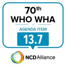 70th WHO WHA Agenda Item 13.7: Promoting the health of refugees and migrants