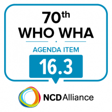 70th WHO WHA Agenda Item 16.3: Global Strategy for Women's, Children's and Adolescents' Health (2016-2030): adolescents' health - Statement