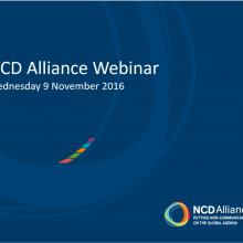 NCD Alliance Webinar, 9 November 2016