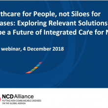Healthcare for people not siloes for disease - Webinar